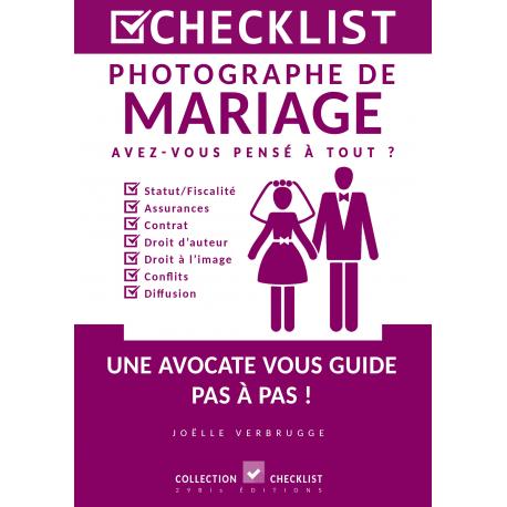 Checklist pour le photographe de mariage