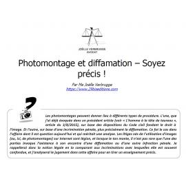 Photomontage et diffamation : soyez précis !
