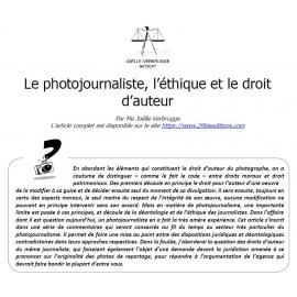 Le photojournaliste, l'éthique et le droit d'auteur