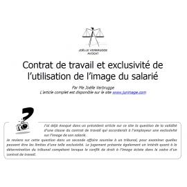 Contrat de travail et exclusivité de l'utilisation de l'image du salarié