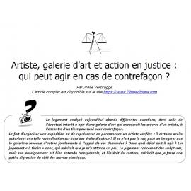 Artiste, galerie d'art et action en justice : qui peut agir en cas de contrefaçon ?