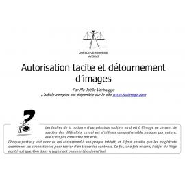 Autorisation tacite et détournement d'image