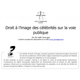 Droit à l'image des célébrités sur la voie publique
