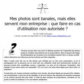 Mes photos sont banales, mais elles servent mon entreprise : que faire en cas d'utilisation non autorisée ?