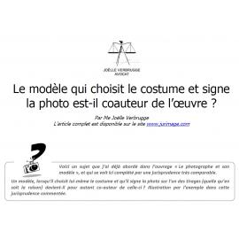 Le modèle qui choisit le costume et signe la photo est-il coauteur de l'œuvre ?