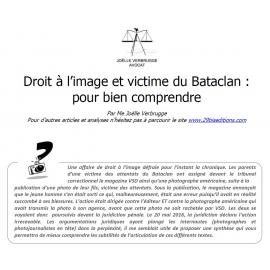 DROIT À L'IMAGE ET VICTIME DU BATACLAN : POUR BIEN COMPRENDRE