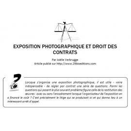 EXPOSITION PHOTOGRAPHIQUE ET DROIT DES CONTRATS