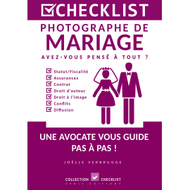 CHECKLIST Photographe de Mariage - Ebook