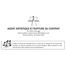 Agent artistique et fin du contrat
