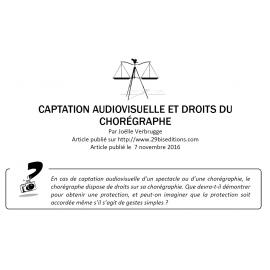 Captation audiovisuelle et droits du chorégraphe