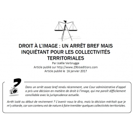 Droit à l'image : un arrêt bref mais inquiétant pour les collectivités territoriales