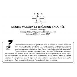 Droits moraux et création salariée