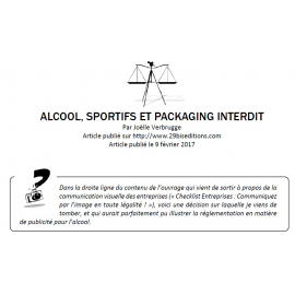 Alcool, sportifs et packaging interdit