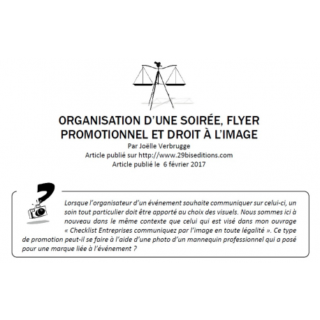 Flyer promotionnel et droit à l'image