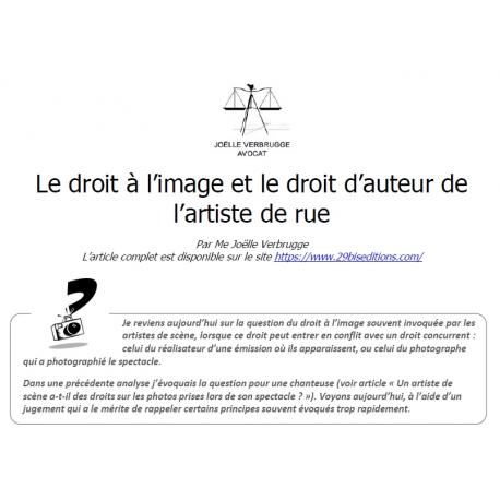 Le droit à l'image et le droit d'auteur de l'artiste de rue