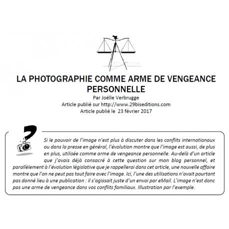La photographie comme arme de vengeance personnelle