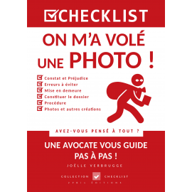 CHECKLIST On m'a volé une Photo ! - Ebook