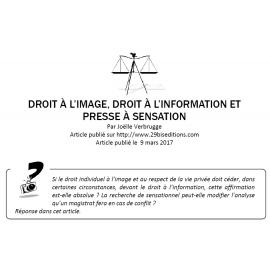 Droit à l'image, droit à l'information et presse à sensation