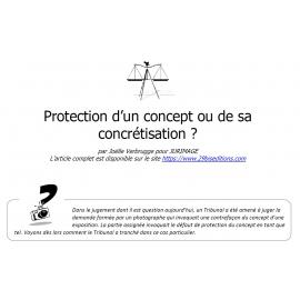 Un concept photographique bénéficie-t-il de la protection du droit d'auteur ?