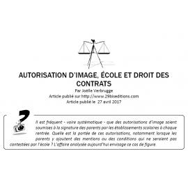 Autorisation d'image, école et droit des contrats