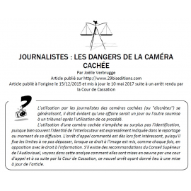 Journalistes : les dangers de la caméra cachée