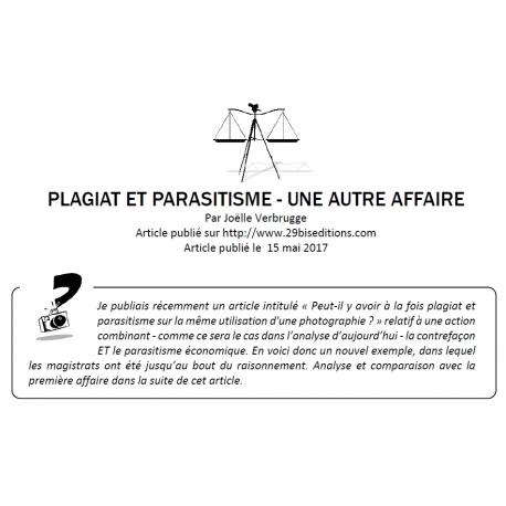 Plagiat et parasitisme : une nouvelle affaire