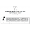 DIAPOS ORIGINALES ET OBLIGATION DE RESTITUTION DU CLIENT