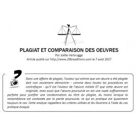 PLAGIAT ET COMPARAISON DES OEUVRES