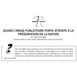 QUAND L'IMAGE PUBLICITAIRE PORTE ATTEINTE À LA PRÉSERVATION DE LA NATURE