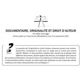 DOCUMENTAIRE, ORIGINALITÉ ET DROIT D'AUTEUR