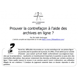 Prouver la contrefaçon à l'aide des archives en ligne ?