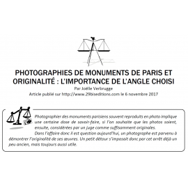 PHOTOGRAPHIES DE MONUMENTS DE PARIS ET ORIGINALITÉ : L'IMPORTANCE DE L'ANGLE CHOISI