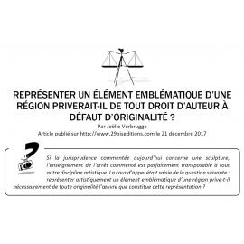 ORIGINALITÉ ET REPRISE D'UN ÉLÉMENT RÉGIONAL EMBLÉMATIQUE
