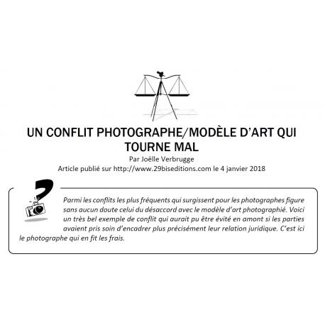 UN CONFLIT PHOTOGRAPHE/MODÈLE QUI TOURNE MAL