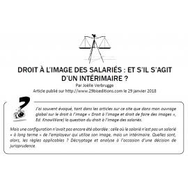 DROIT À L'IMAGE DES SALARIÉS : ET S'IL S'AGIT D'UN INTÉRIMAIRE ?