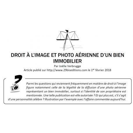 DROIT À L'IMAGE ET PHOTO AÉRIENNE D'UN BIEN IMMOBILIER