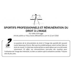SPORTIFS PROFESSIONNELS ET RÉMUNÉRATION DU DROIT À L'IMAGE