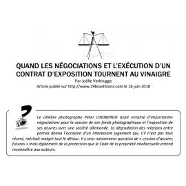 QUAND LES NÉGOCIATIONS ET L'EXÉCUTION D'UN CONTRAT D'EXPOSITION TOURNENT AU VINAIGRE