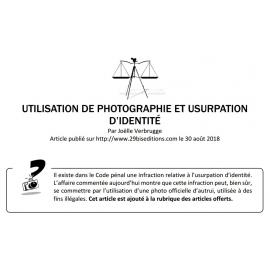 UTILISATION DE PHOTOGRAPHIE ET USURPATION D'IDENTITÉ