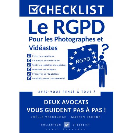 CHECKLIST Le RGPD pour les Photographes et Vidéastes - Ebook