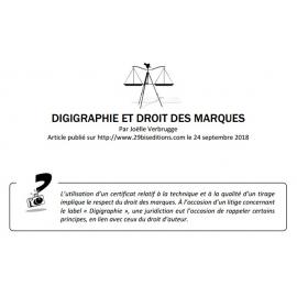 DIGIGRAPHIE ET DROIT DES MARQUES