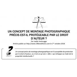 UN CONCEPT DE MONTAGE PHOTOGRAPHIQUE PRÉCIS EST-IL PROTÉGEABLE PAR LE DROIT D'AUTEUR ?