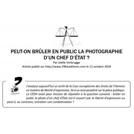 PEUT-ON BRÛLER EN PUBLIC LA PHOTOGRAPHIE D'UN CHEF D'ÉTAT ?