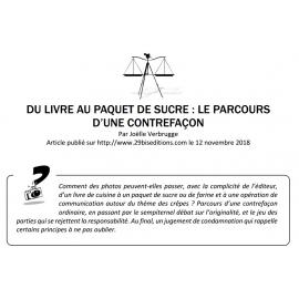 DU LIVRE AU PAQUET DE SUCRE : LE PARCOURS D'UNE CONTREFAÇON