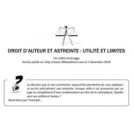 DROIT D'AUTEUR ET ASTREINTE : UTILITÉ ET LIMITES