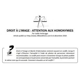 DROIT À L'IMAGE : ATTENTION AUX HOMONYMIES