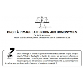 DROIT À L'IMAGE : ATTENTION AUX HOMONYMIES