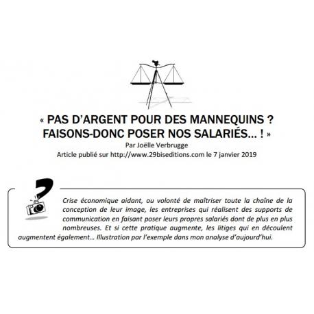 PAS D'ARGENT POUR DES MANNEQUINS ? FAISONS-DONC POSER NOS SALARIÉS… !