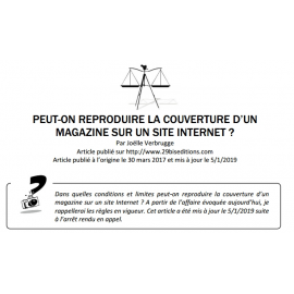 PEUT-ON REPRODUIRE LA COUVERTURE D'UN MAGAZINE SUR INTERNET ?