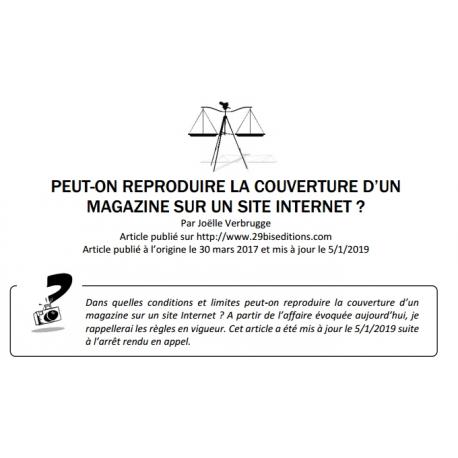 Peut-on reproduire la couverture d'un magazine sur un site Internet ?